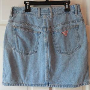 Vintage Guess Triangle Denim Jeans Mini Skirt–29